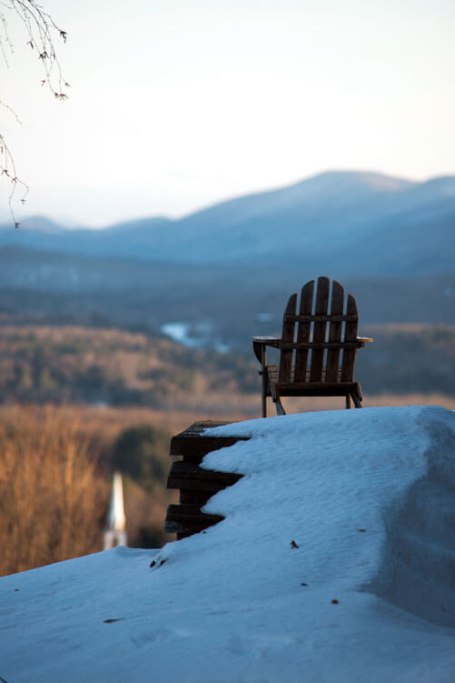Adirondack Chair with Mountain View