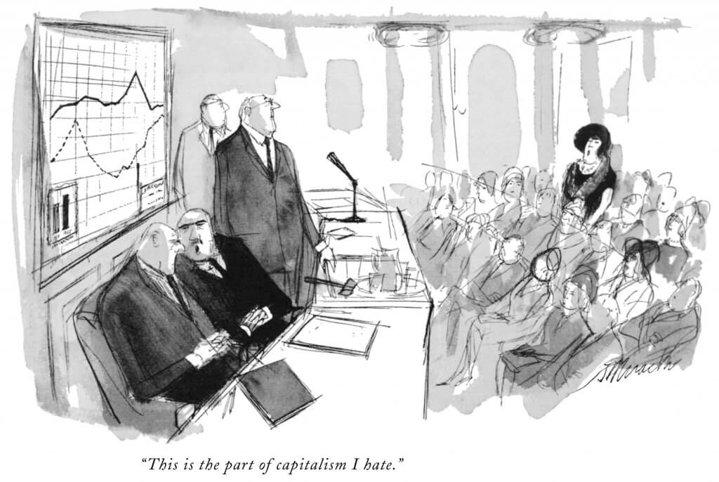 New Yorker cartoon - capitalism